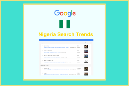 Google searches trends for Nigeria.